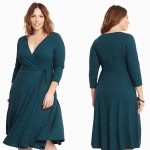 Torrid faux wrap dress